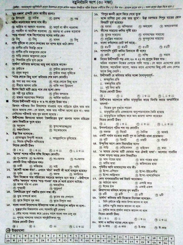 JSC Bangla 1st Paper Model Question