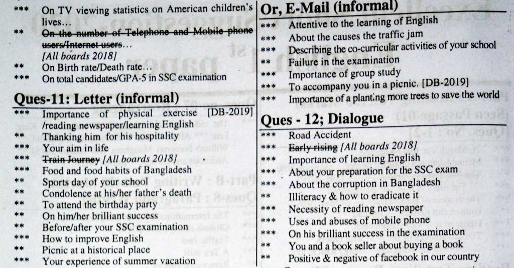 SSC English 1st Paper Suggestion