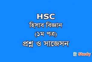 HSC Accounting 1st Paper Question & Suggestion